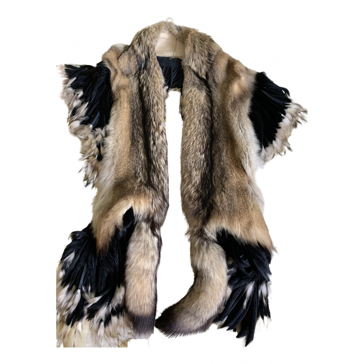 Non Signé / Unsigned N Multicolour Fox scarf for Women N