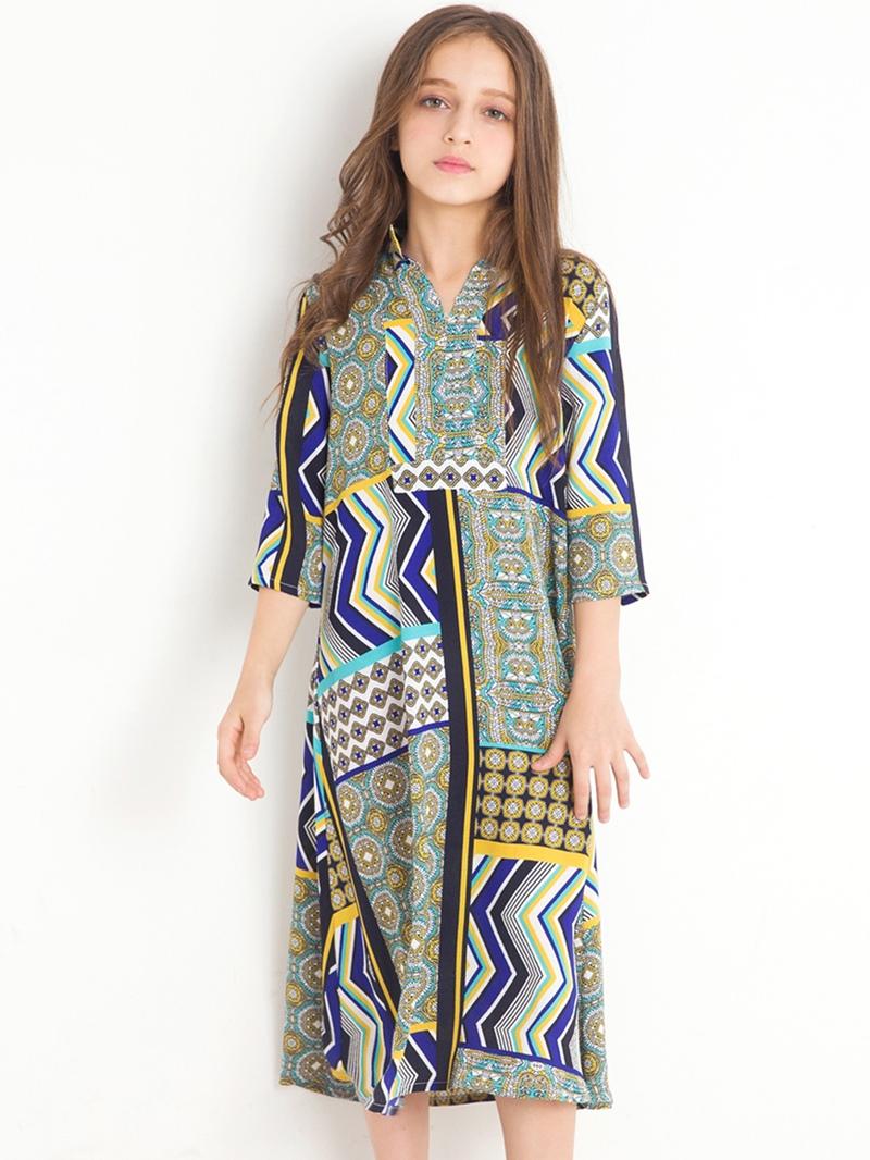 Ericdress Geometrical Pattern Printed Fall Girl's Dress