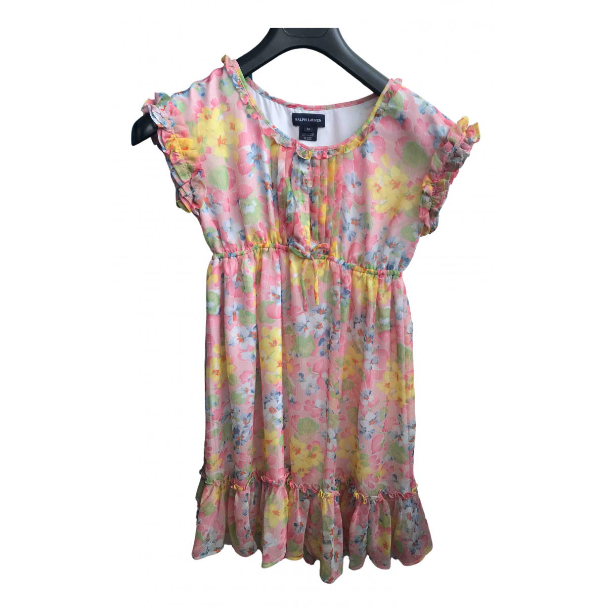 Ralph Lauren - Robe    pour enfant en soie - multicolore