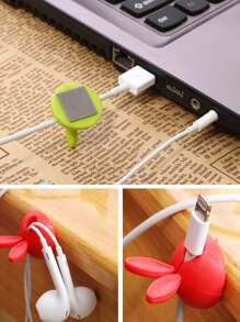 4pcs Ear Design Cable Fixed Holder