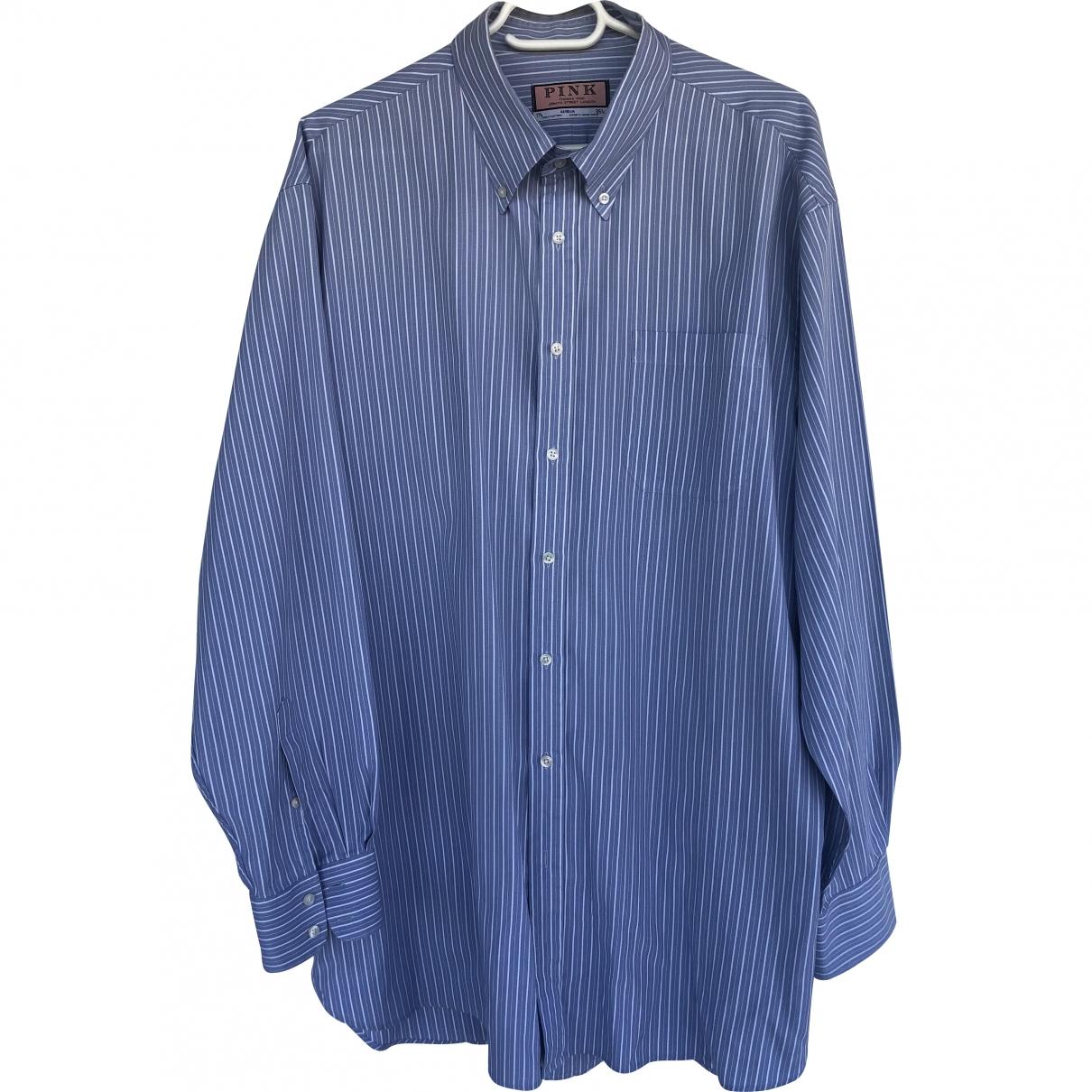 Non Signé / Unsigned \N Blue Cotton Shirts for Men 17.5 UK - US (tour de cou / collar)