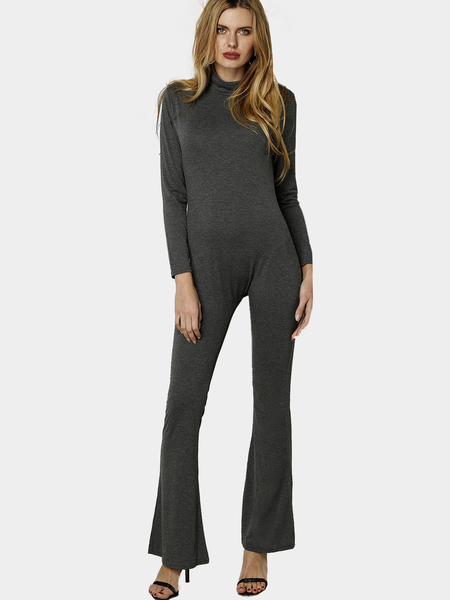 Yoins Long Sleeves Bodycon Jumpsuit with Back Zippper Design