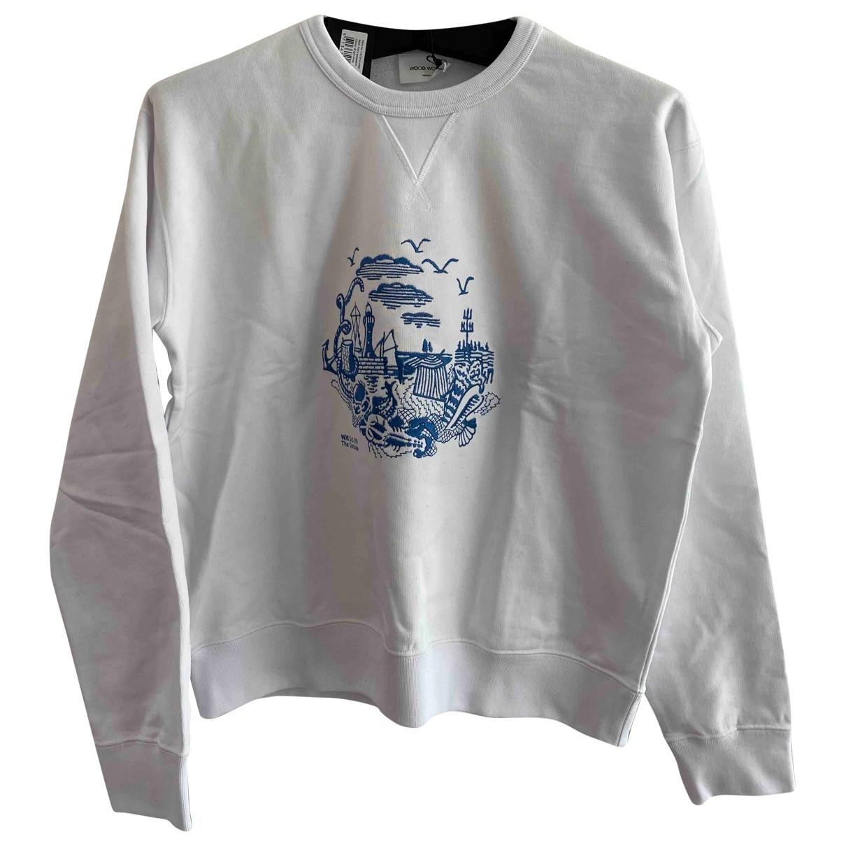 Wood Wood \N White Cotton Knitwear & Sweatshirts for Men M International
