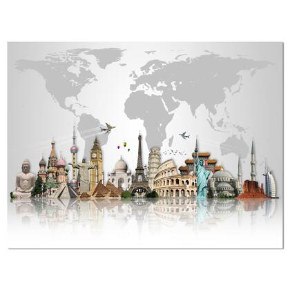 PT9272-40-30 Famous Monuments Across World - Canvas Art Print -