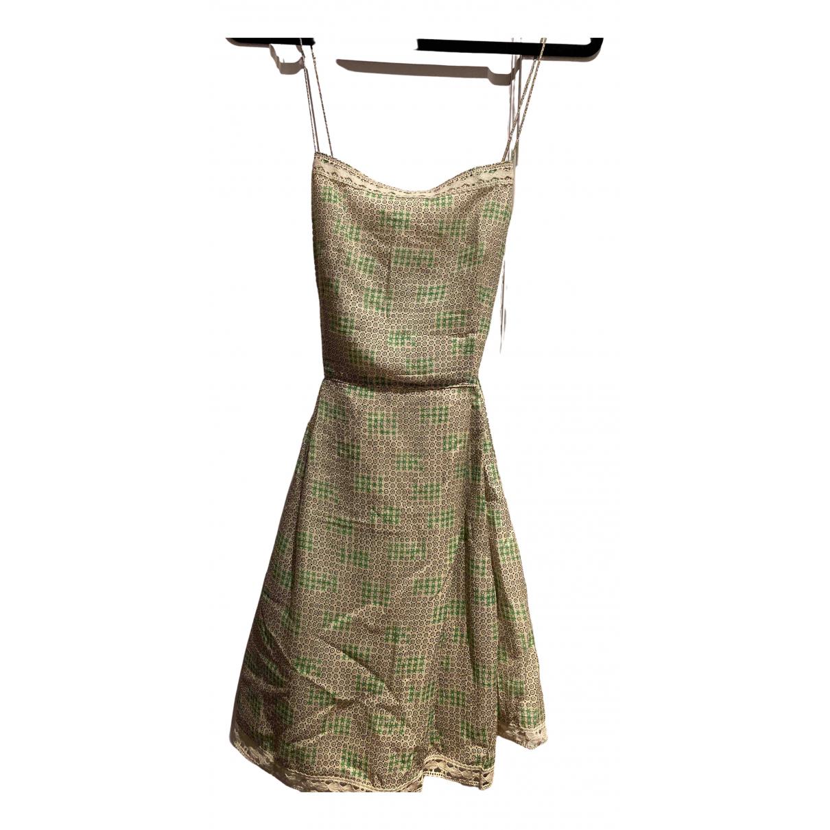 Anna Sui \N Kleid in  Gruen Seide