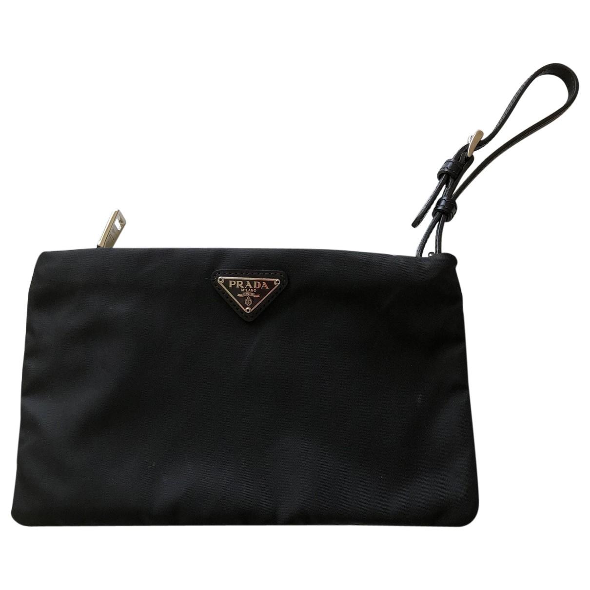 Prada Tessuto  Black Cloth Purses, wallet & cases for Women \N
