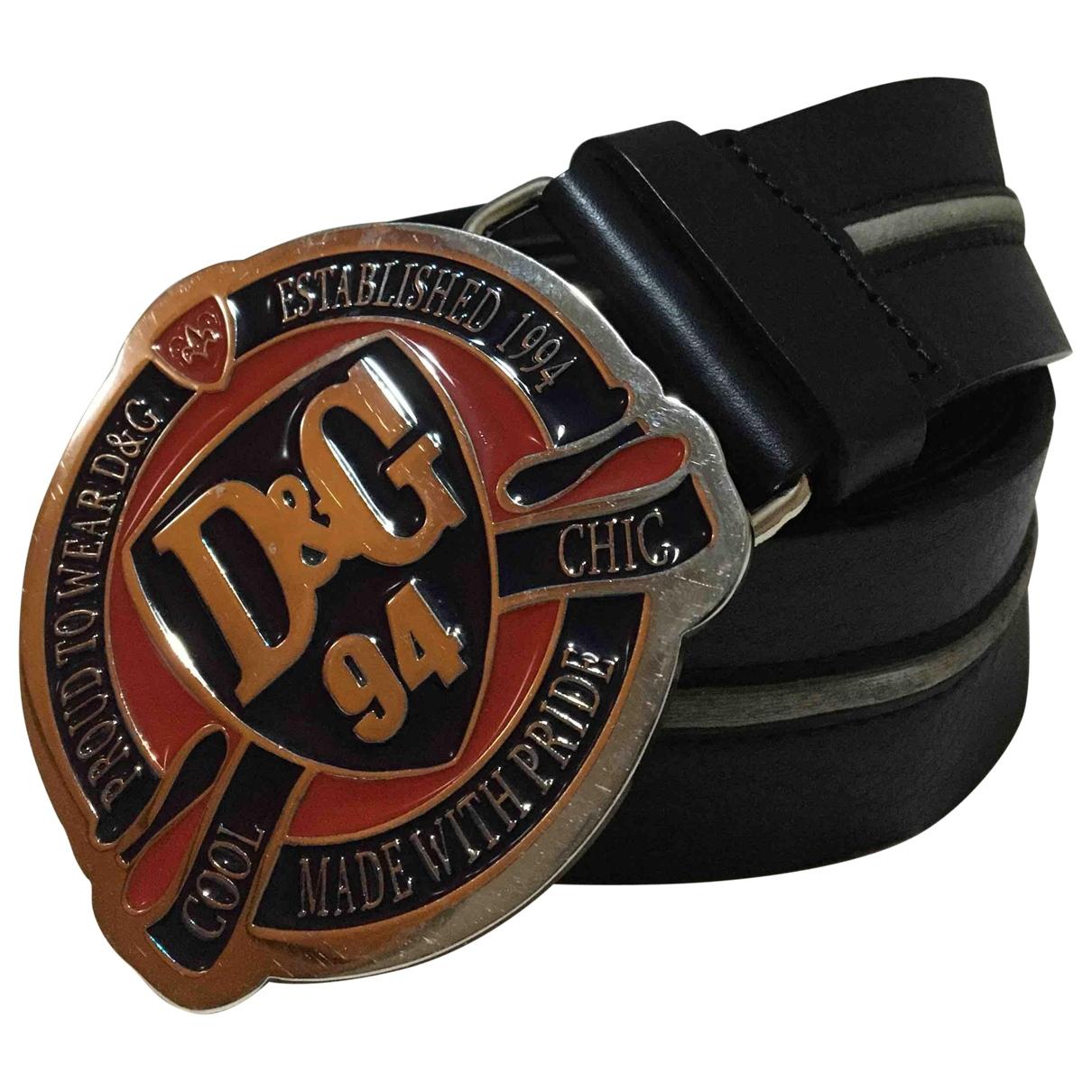 D&g \N Blue Leather belt for Men 95 cm