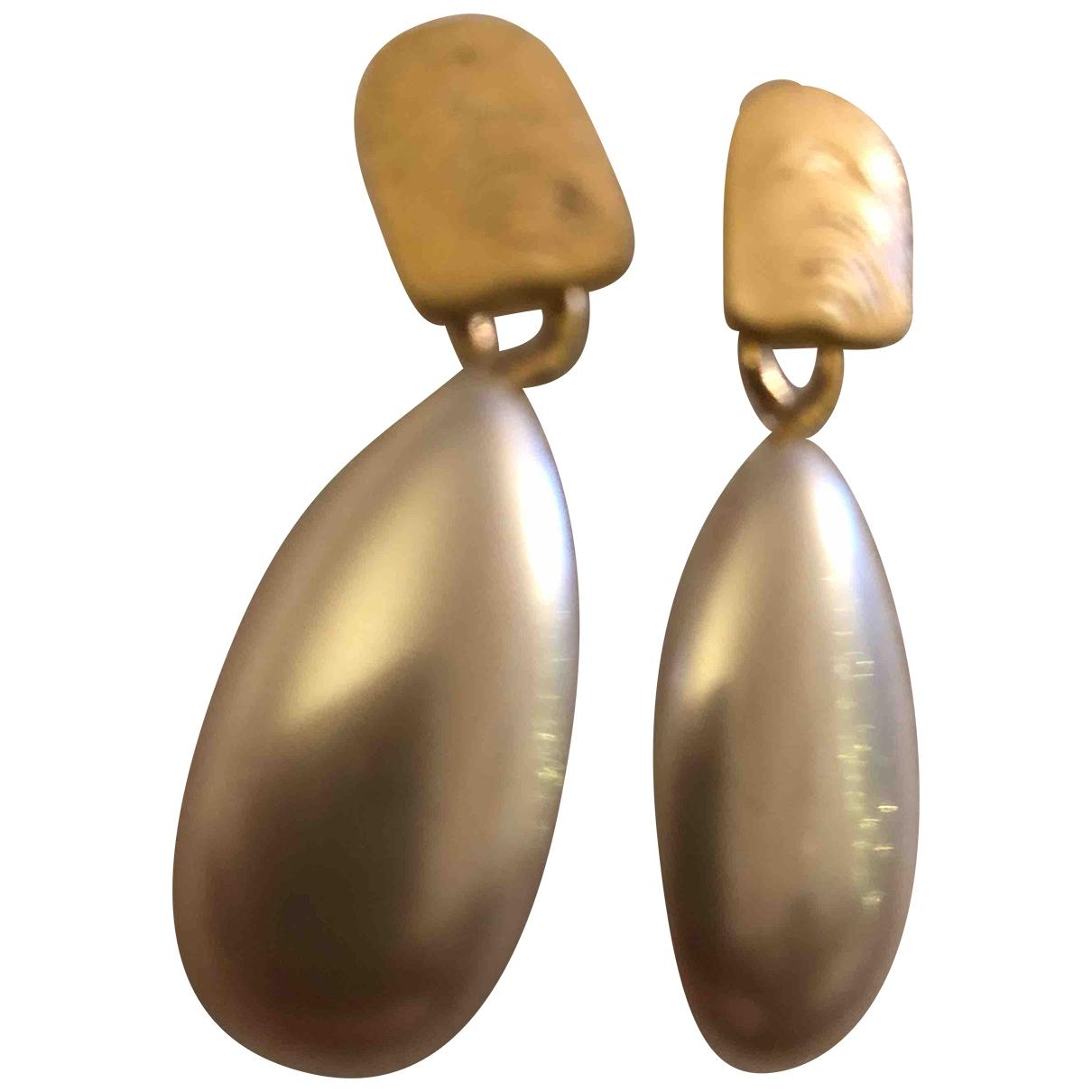- Boucles doreilles Nacre pour femme en metal - dore