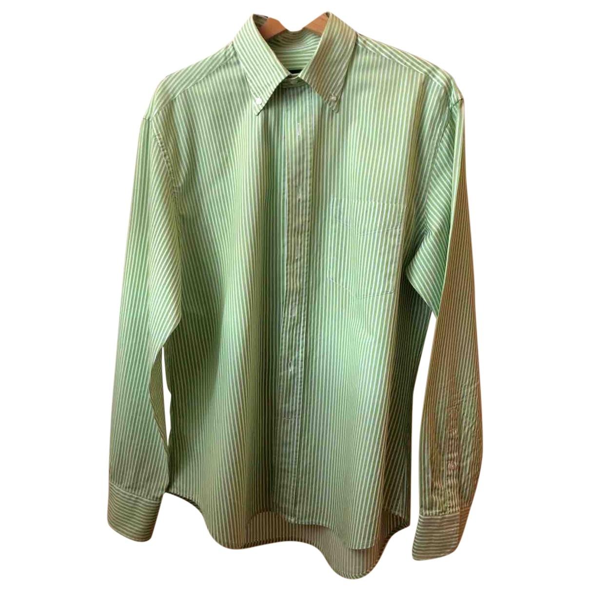 Corneliani \N Hemden in  Gruen Baumwolle