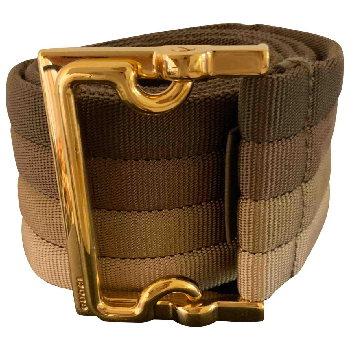 Gucci \N Brown Silk belt for Women 90 cm