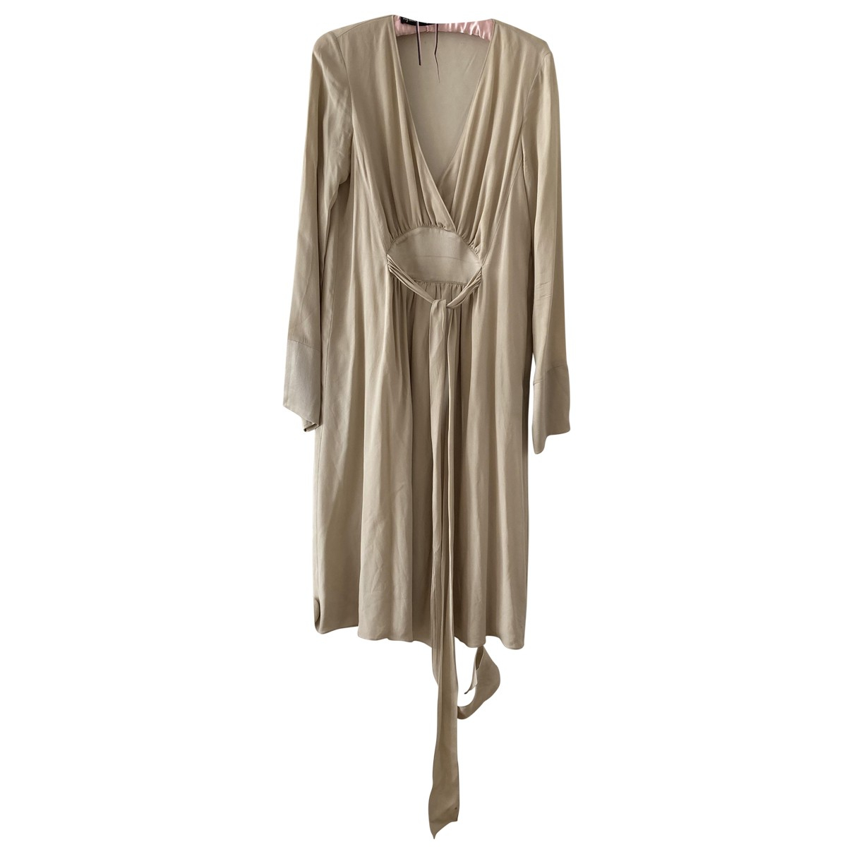 Burberry \N Gold Silk dress for Women 42 IT