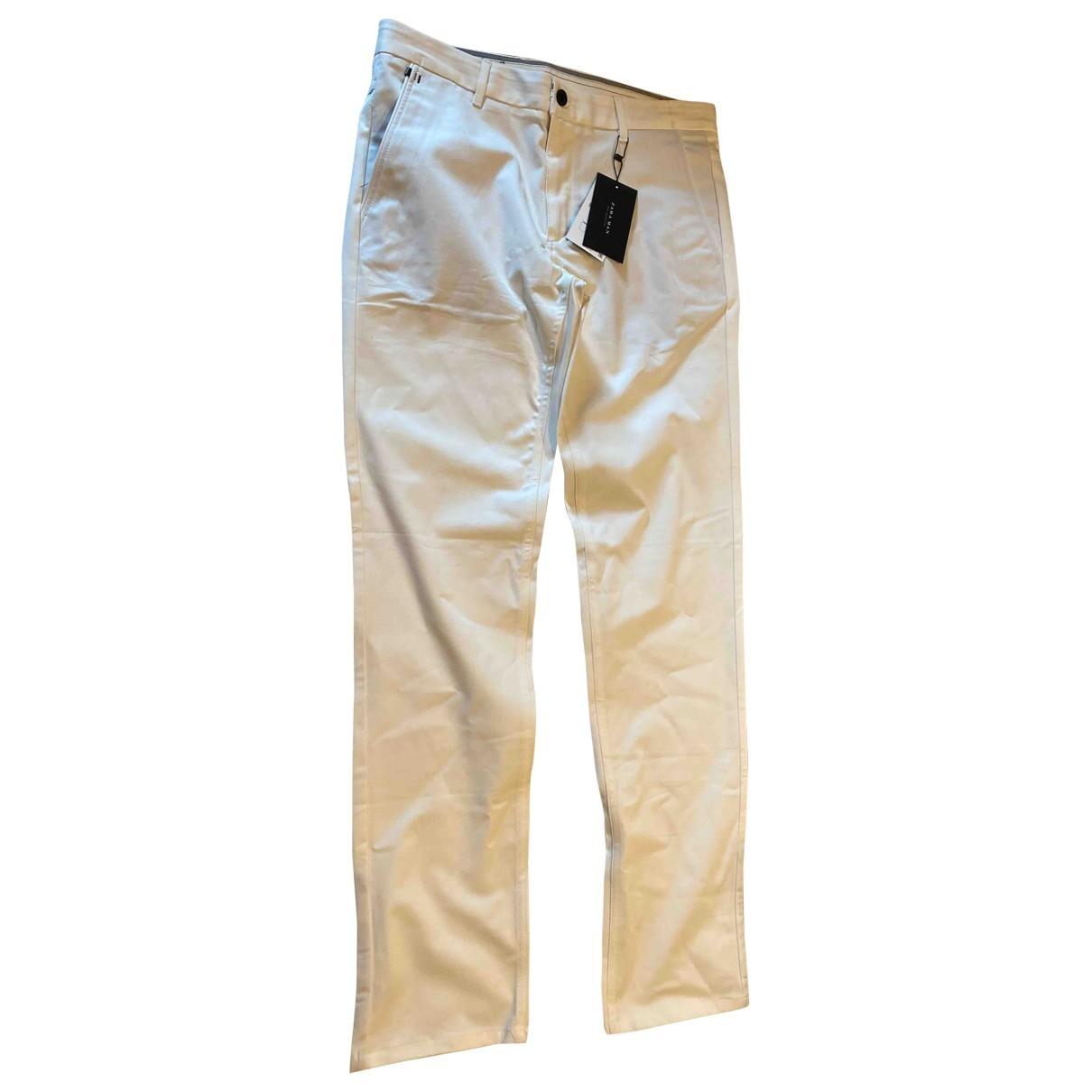 Zara \N White Cotton Trousers for Men 42 FR
