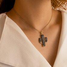 Halskette mit Kaktus Dekor
