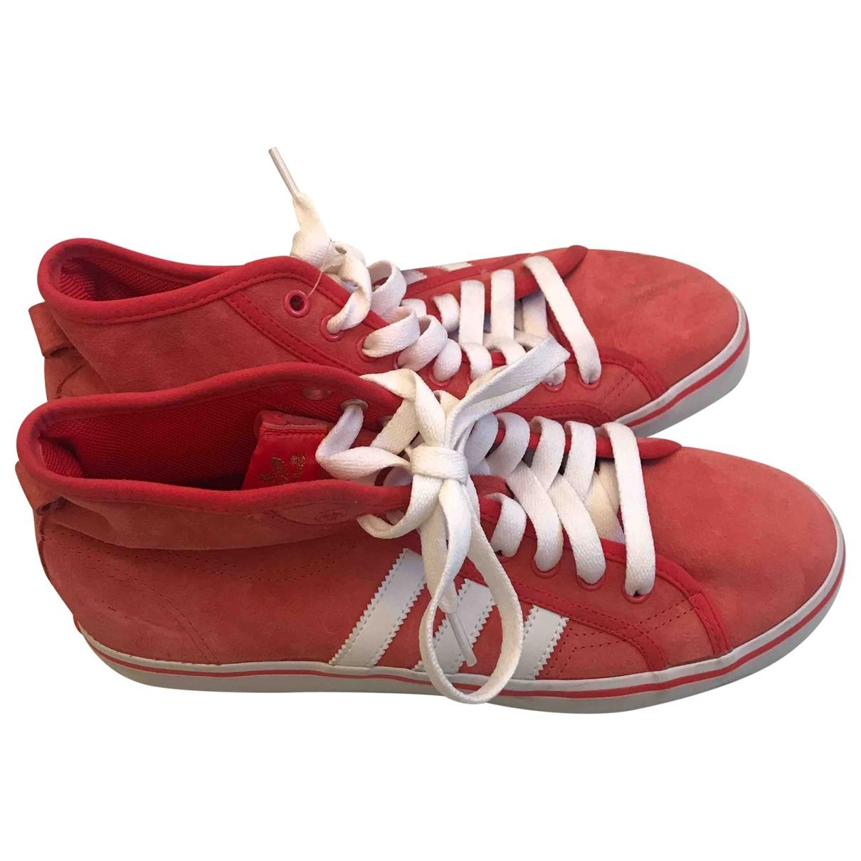 Adidas - Baskets   pour homme en suede - rouge