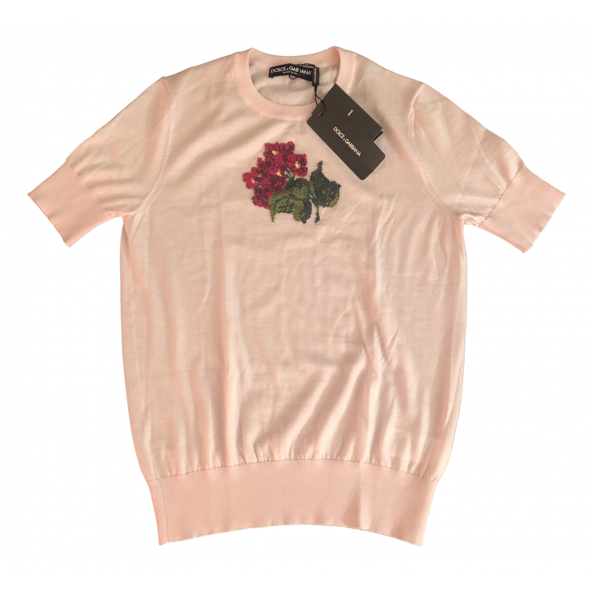 Dolce & Gabbana - Pull   pour femme en soie - rose