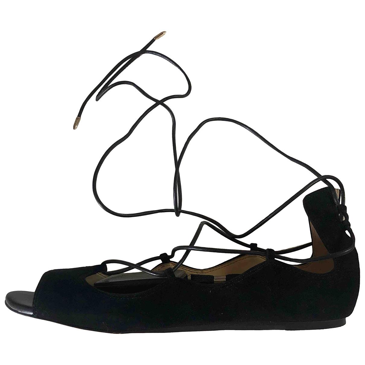 Sam Edelman \N Black Suede Sandals for Women 7.5 US