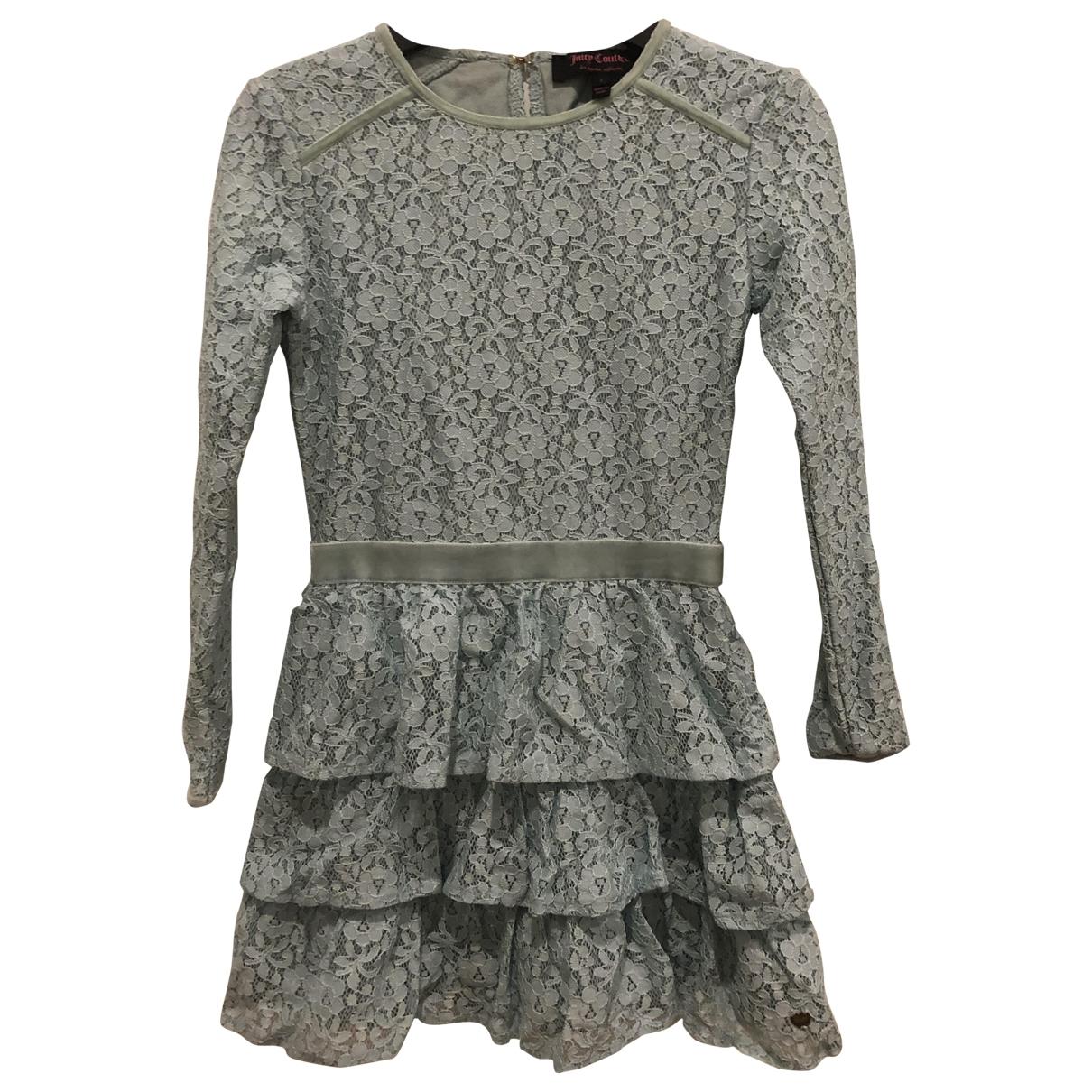 Juicy Couture - Robe    pour enfant en coton - elasthane - turquoise