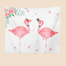 Flamingo Print Tapestry