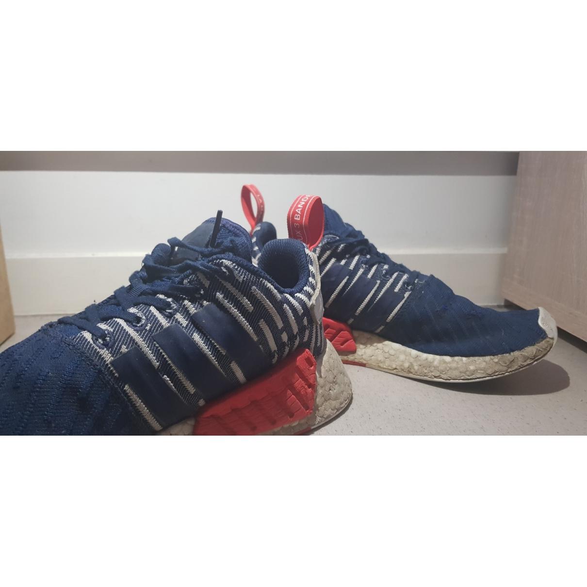 Adidas Nmd Sneakers in  Blau Leinen