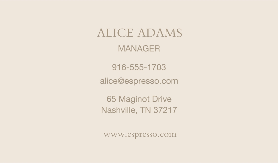 Modern Business Cards, Set of 40, Card & Stationery -Coffee Shop