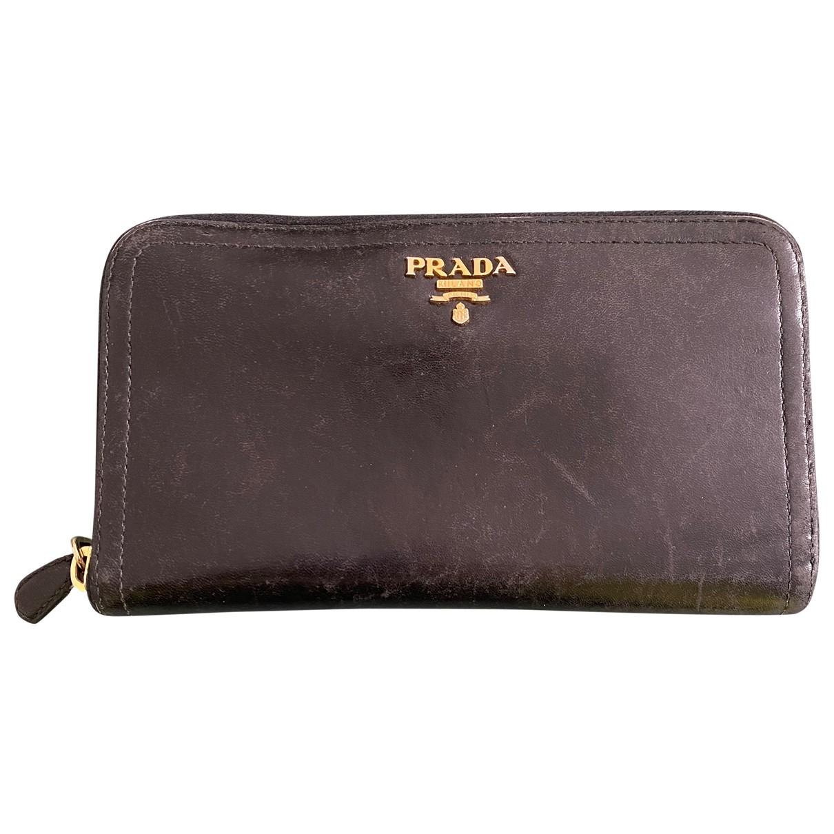 Prada \N Black Leather wallet for Women \N