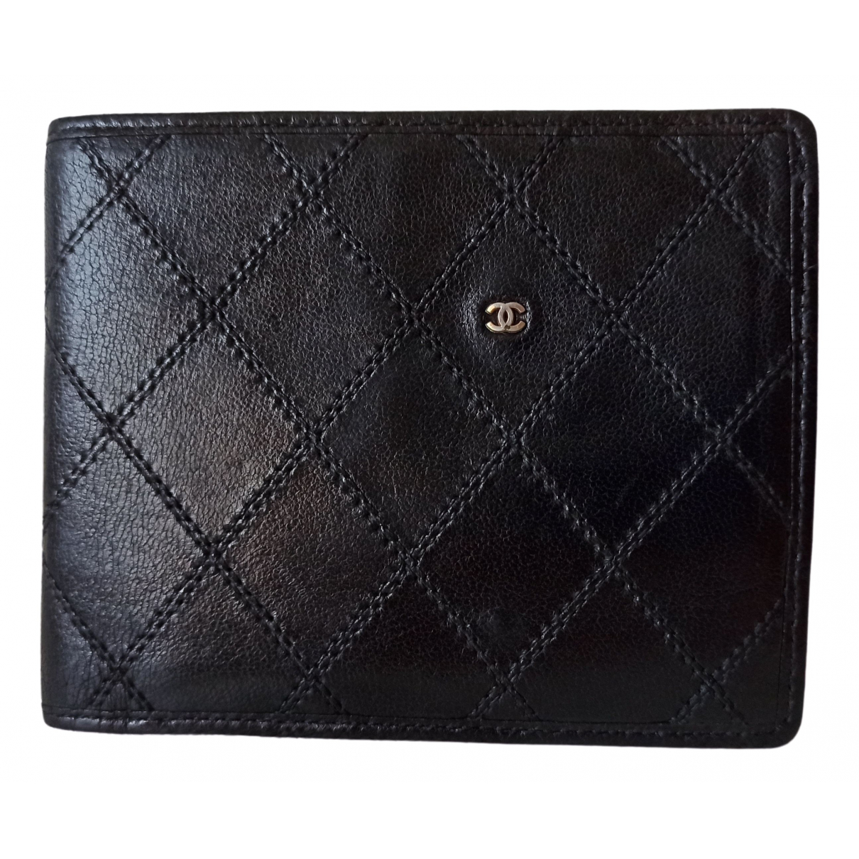 Chanel \N Black Leather Small bag, wallet & cases for Men \N
