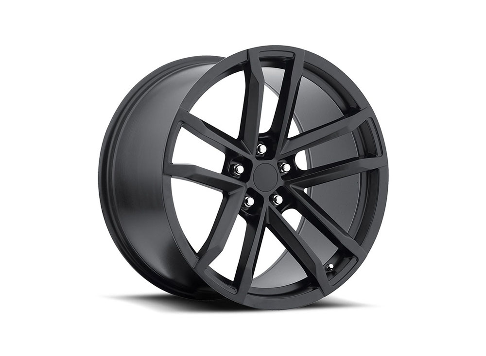 Factory Reproduction Series 41 Wheels 20x9 5x120 +27 HB 66.9 2012 Camaro Style 41 Zl Satin Black w/Cap