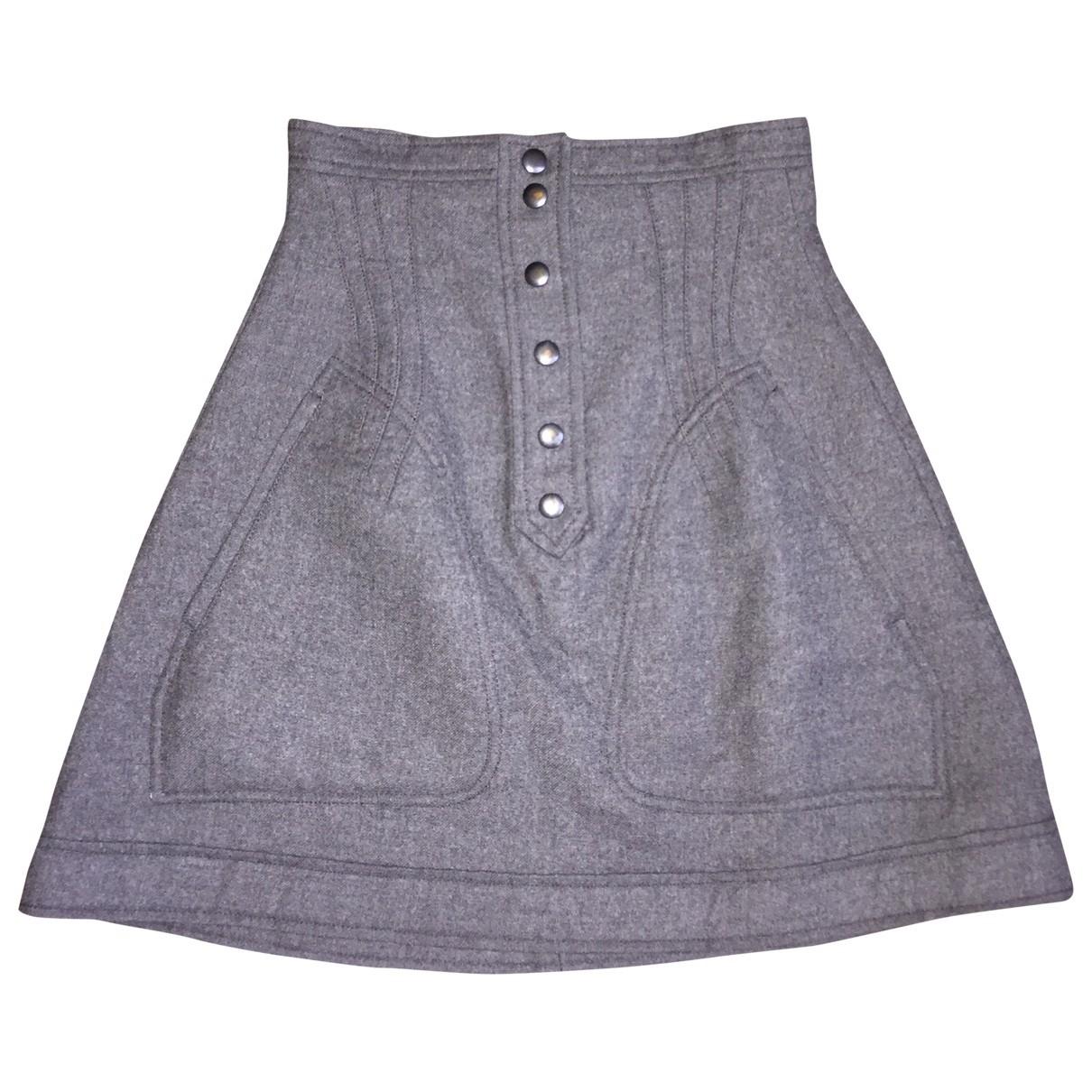 Balenciaga - Jupe   pour femme en laine - gris