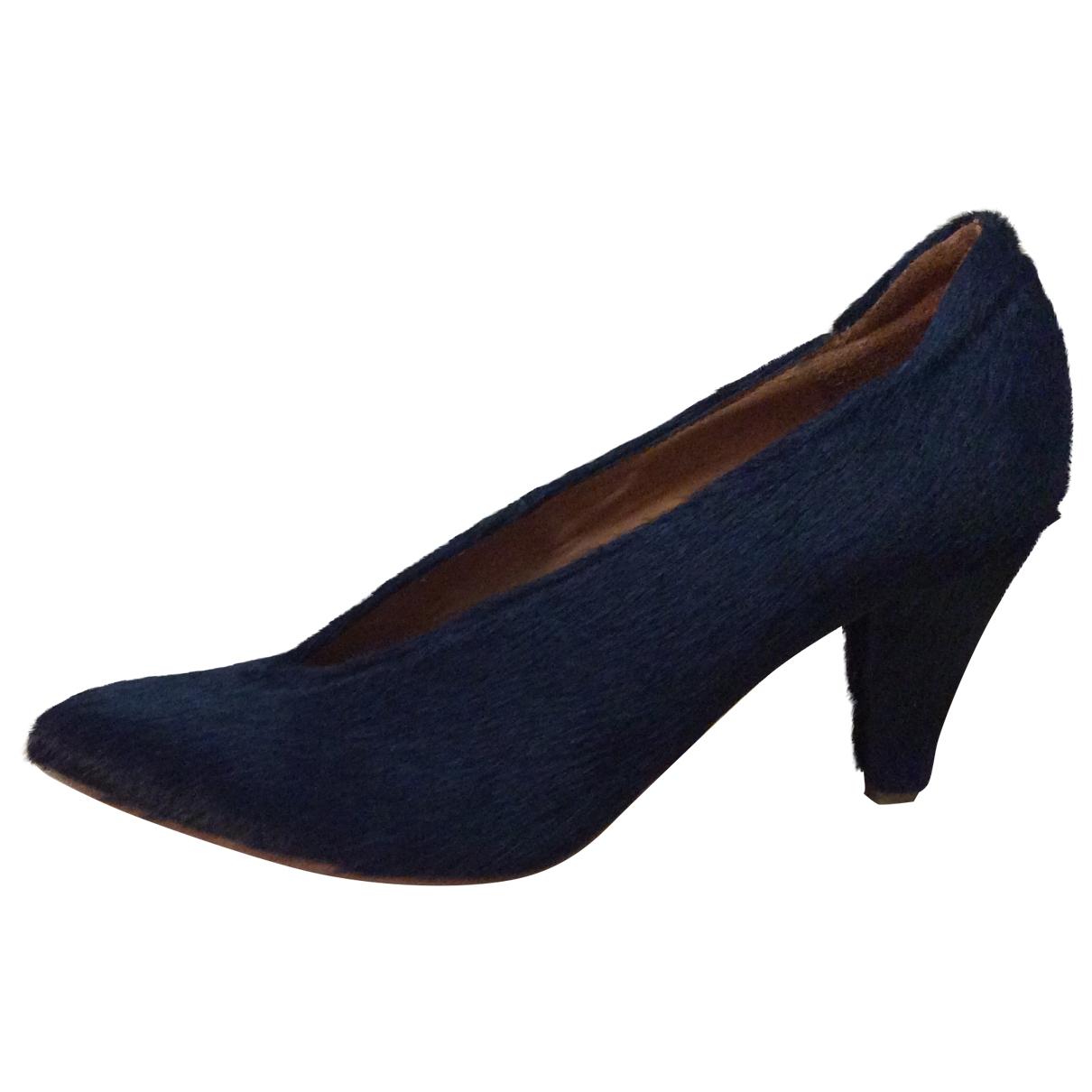 Lover - Escarpins   pour femme en veau facon poulain - bleu