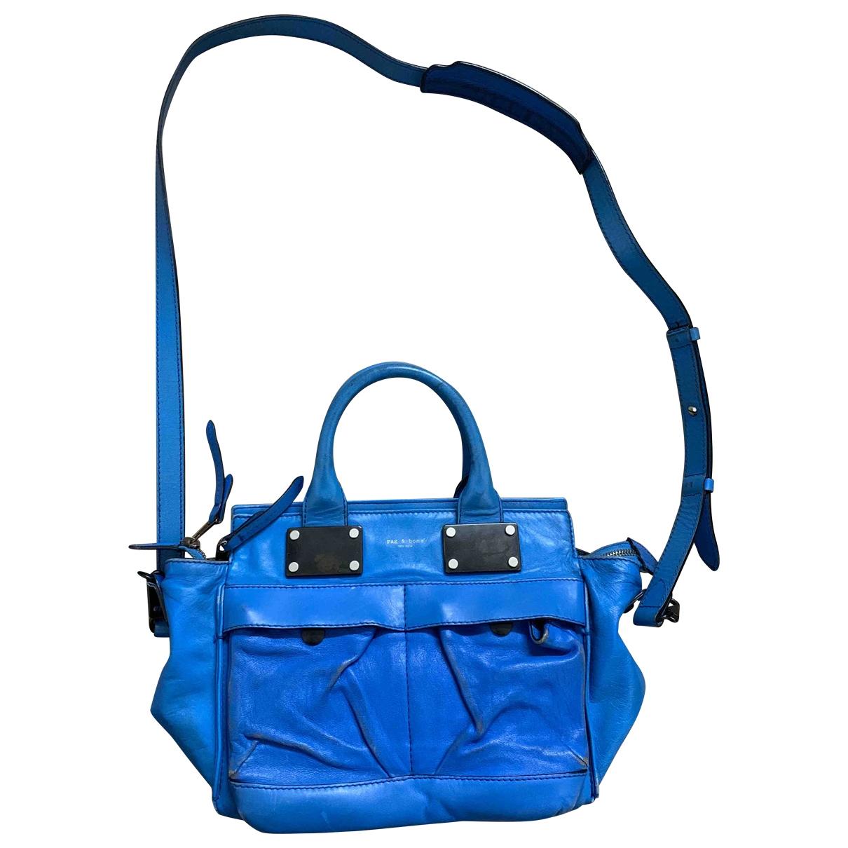Rag & Bone \N Handtasche in  Blau Leder