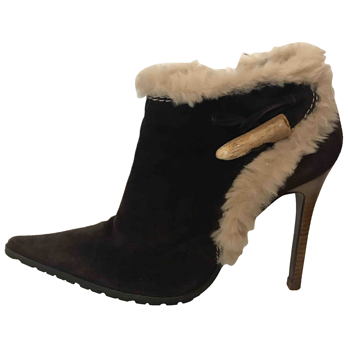 Giuseppe Zanotti \N Brown Suede Ankle boots for Women 38.5 EU