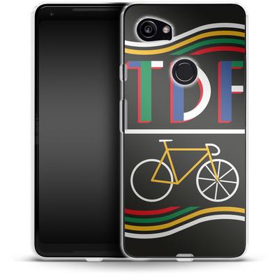 Google Pixel 2 XL Silikon Handyhuelle - TDF Bike von Le Tour de France