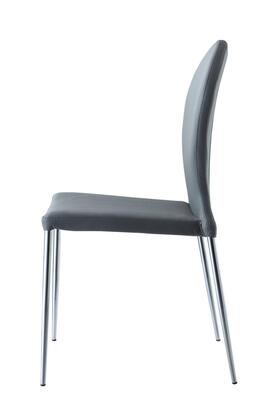 DC1240P-GRY Sophia Dining Chair  Gray Faux Leather  chrome