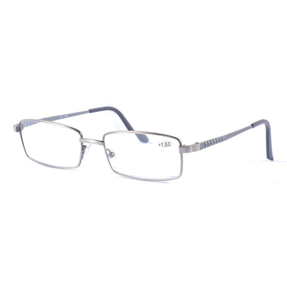 Mens Vintage Casual Comfortable Presbyopic Glasses Metal Square Frame Reading Glasses