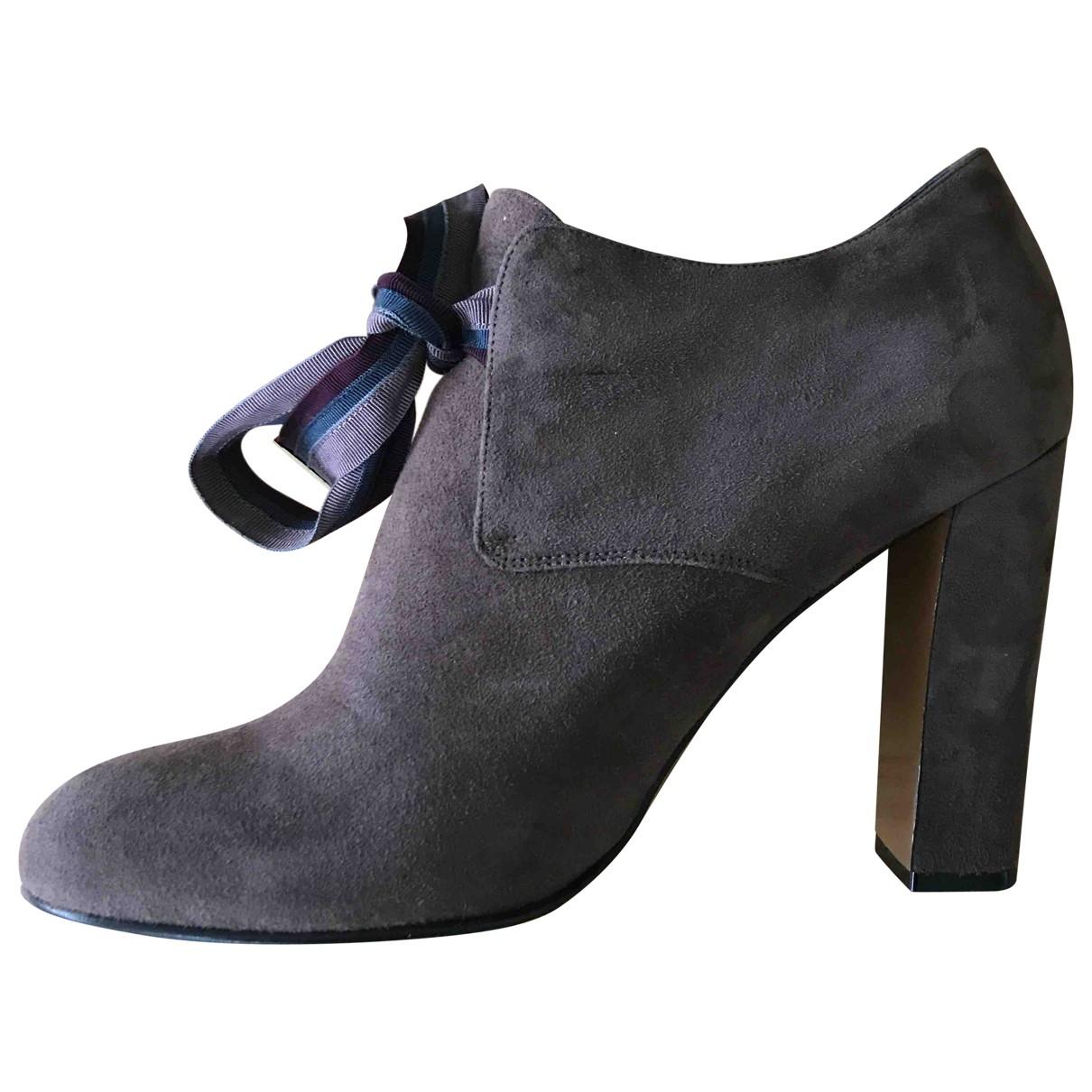 Etro - Boots   pour femme en suede - marron