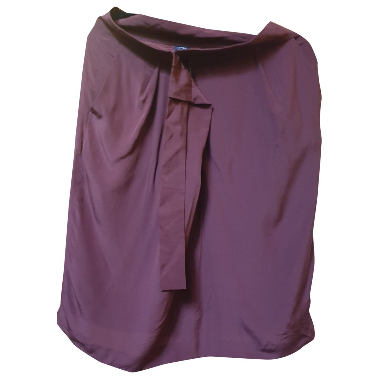 Aspesi \N Burgundy Silk skirt for Women 42 IT
