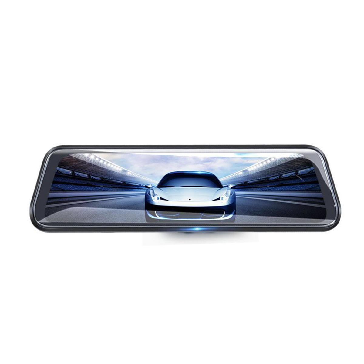 10 Inch Junsun Dual Lens FHD 1080P Dash Cam Car DVR Rearview Mirror Backup Camera