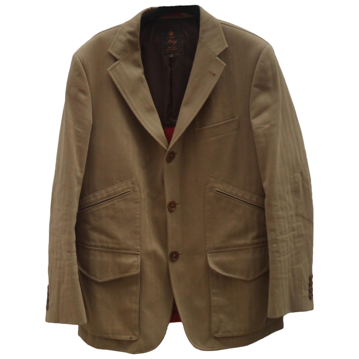 Fay \N Beige Cotton jacket  for Men 50 IT