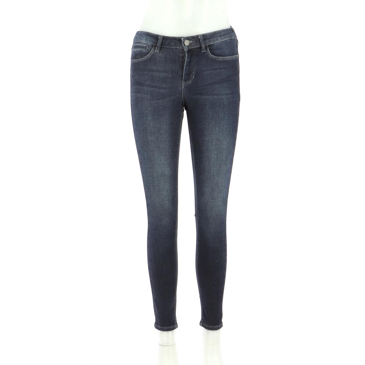 Comptoir Des Cotonniers \N Navy Cotton Trousers for Women 36 FR