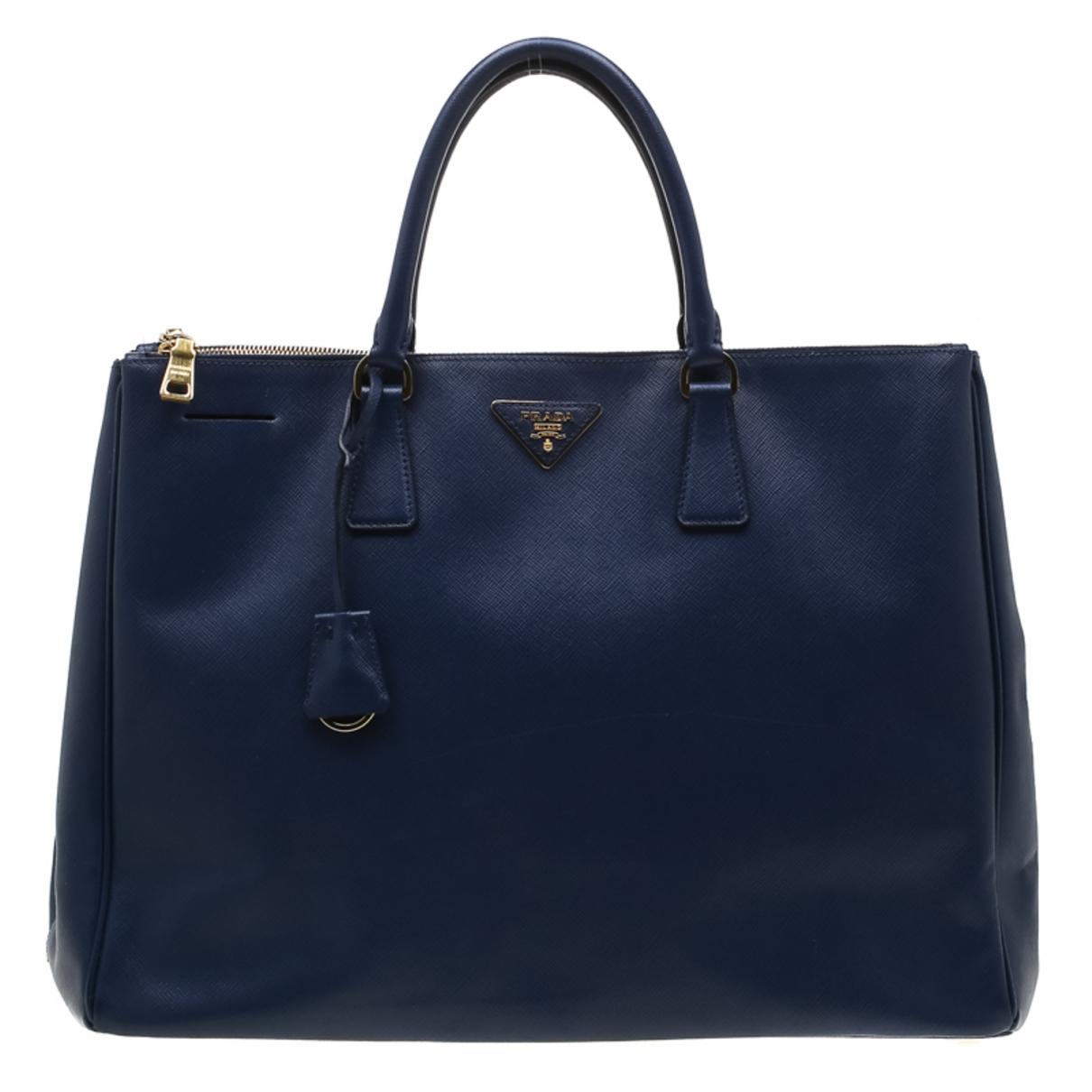 Prada saffiano  Blue Leather handbag for Women \N
