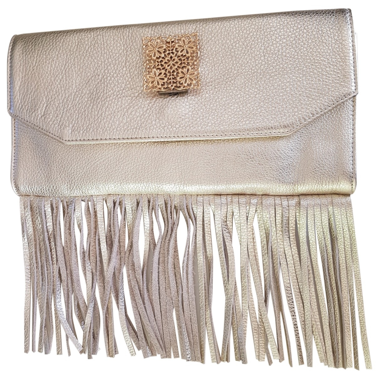 Rose & Josephine \N Gold Leather Clutch bag for Women \N