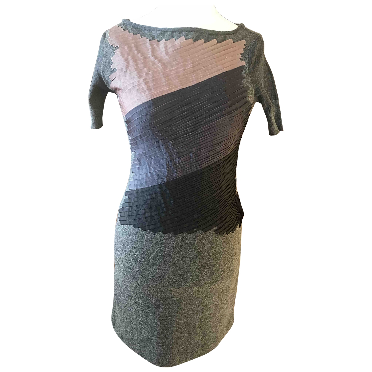 Emporio Armani \N Grey Wool dress for Women 42 IT