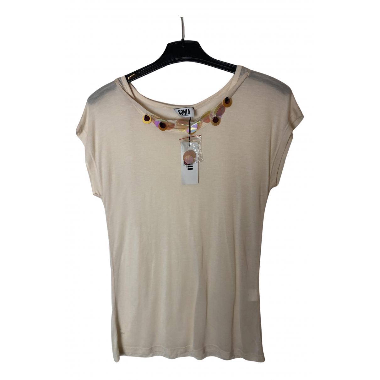 Sonia By Sonia Rykiel - Top   pour femme en coton - beige