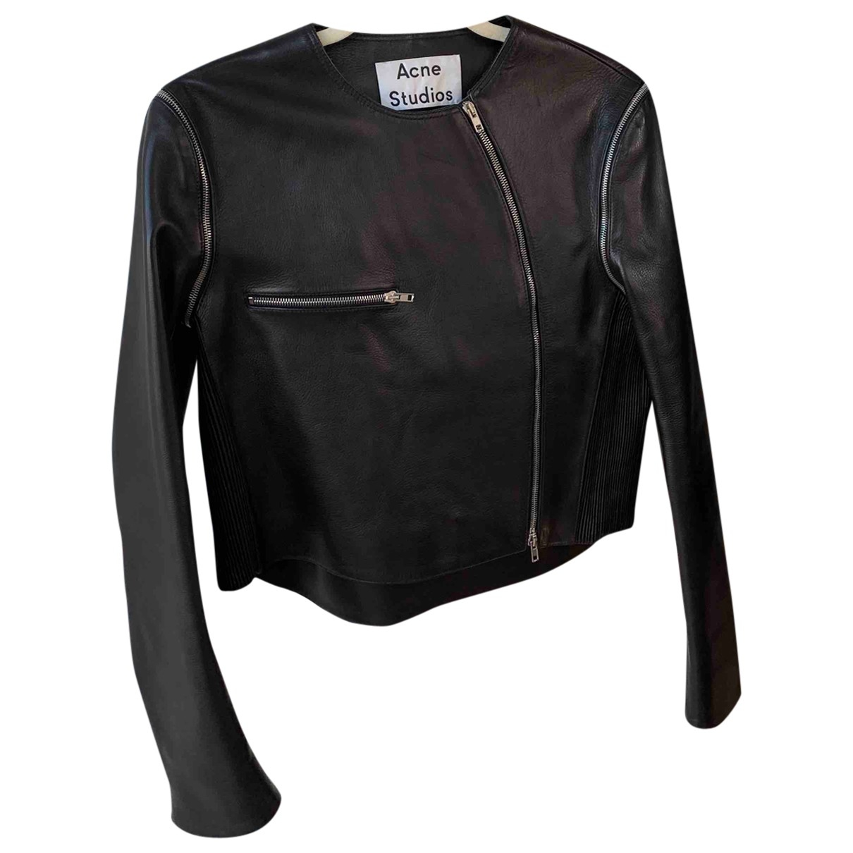 Acne Studios \N Black Leather jacket for Women 12 UK