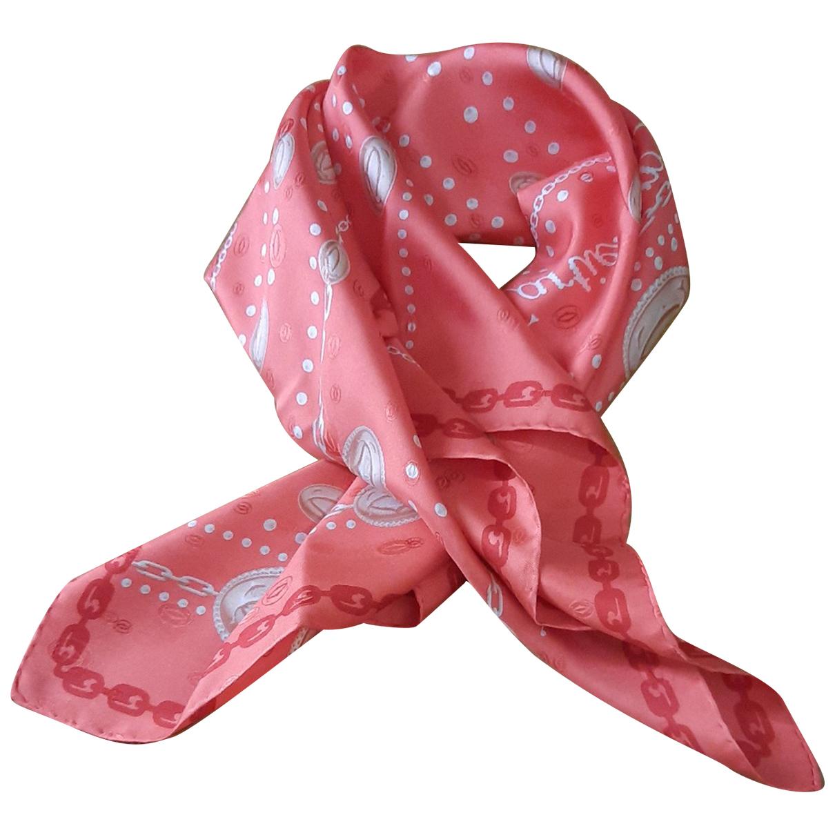 Cartier - Foulard   pour femme en soie - rouge