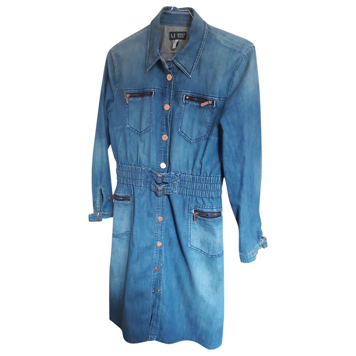 Armani Jeans \N Kleid in  Blau Denim - Jeans
