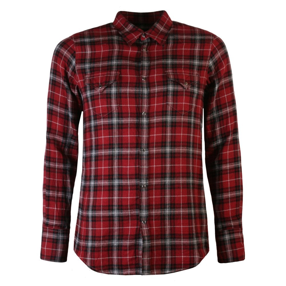 Dsquared2 Plaid Flannel Shirt Red Colour: RED, Size: SMALL