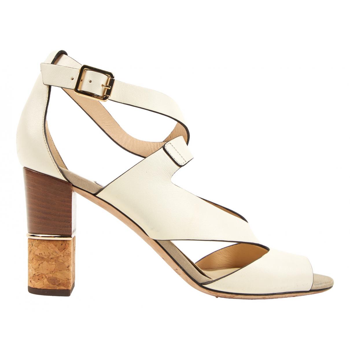 Jimmy Choo \N Ecru Leather Sandals for Women 40 EU