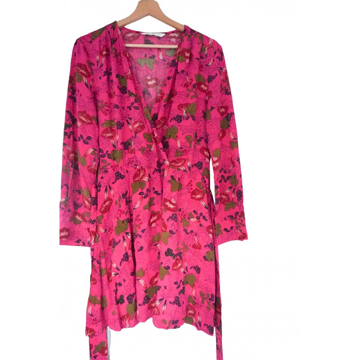Zara \N Kleid in  Rosa Baumwolle
