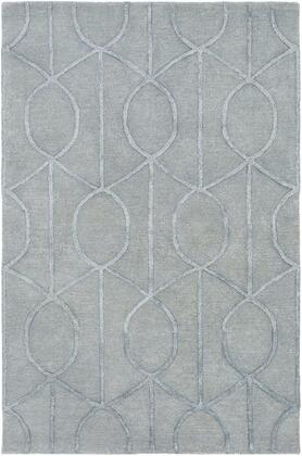 AWUB2160-46 4' x 6' Rug  in Medium Gray and